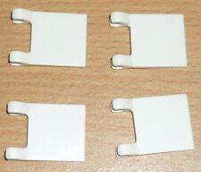 Lego 4 Fahnen / Flaggen in weiß (2 x 2)
