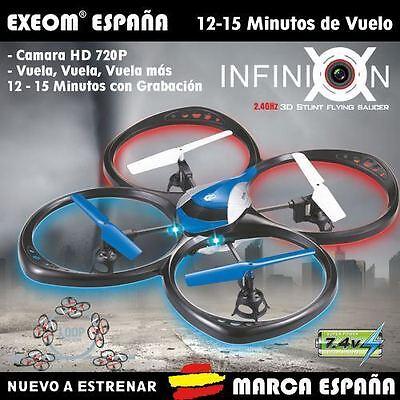 Quadcopter camara 720P HD 42X42cm 2.4G 4CH 6 axis dron helicoptero