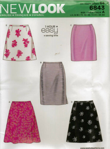 From UK Sewing Pattern Sewing Bee  A-line Skirt   8-18 US #6843