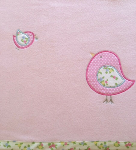 Brand New End of Line. Birds Baby Blanket Excellent Quality