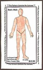 """*NEW* CLOTH ART DOLL (E-PATTERN) DOWNLOAD """"BASIC MALE"""" BY MARY TRESSLER"""