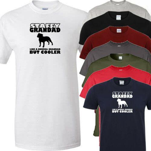 staffordshire bull terrier grandad dog walking t shirt