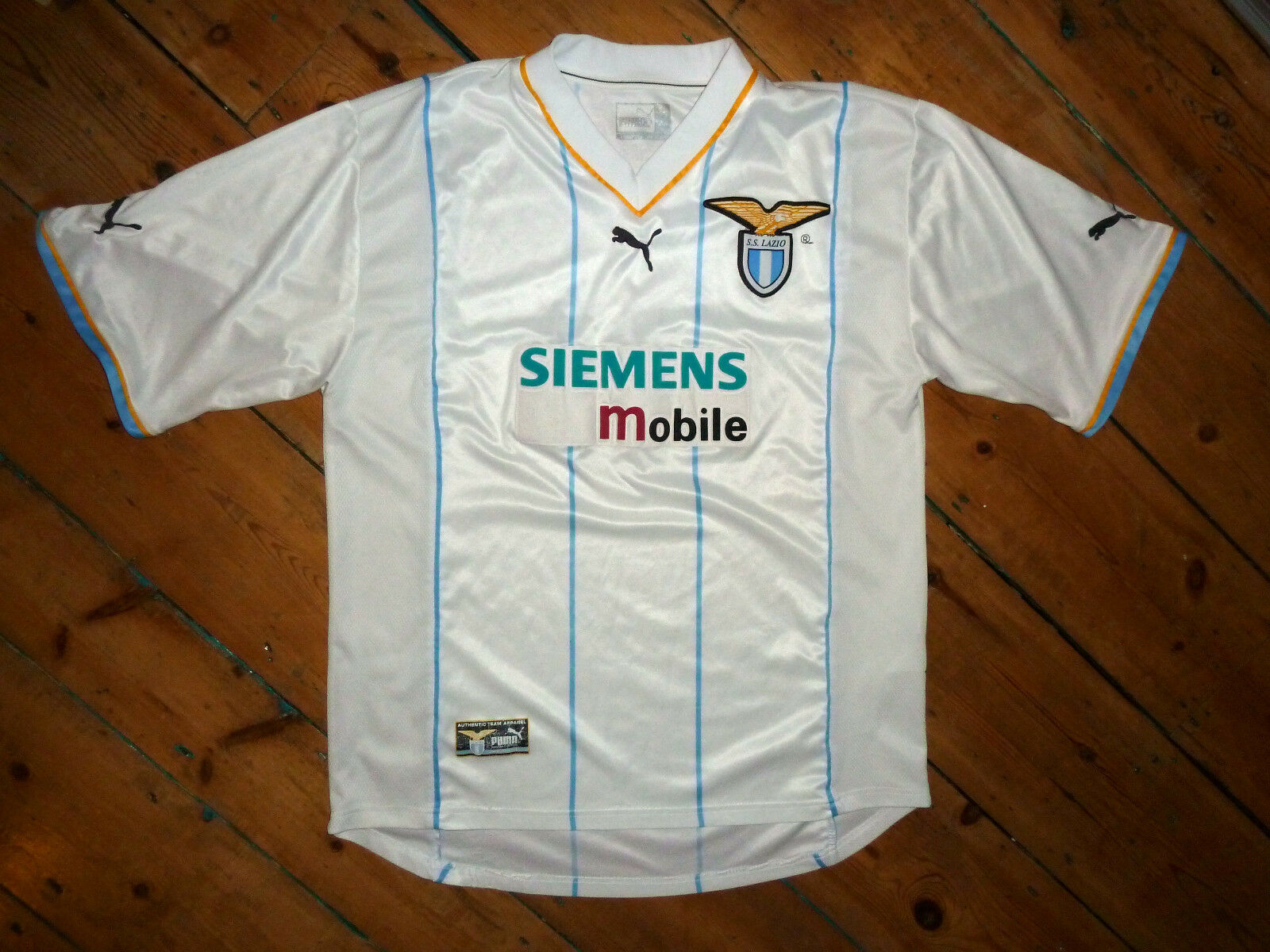 Ss LAZIO SHIRT+  LARGE + 3rd KIT EURO soccer JERSEY +  CHAMPIONS LEAGUE 2002