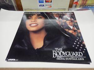 BODYGUARD-WHITNEY-HOUSTON-KEVIN-COSTNER-RARE-Promo-Poster-Flat-ORIGINAL-VINTAGE