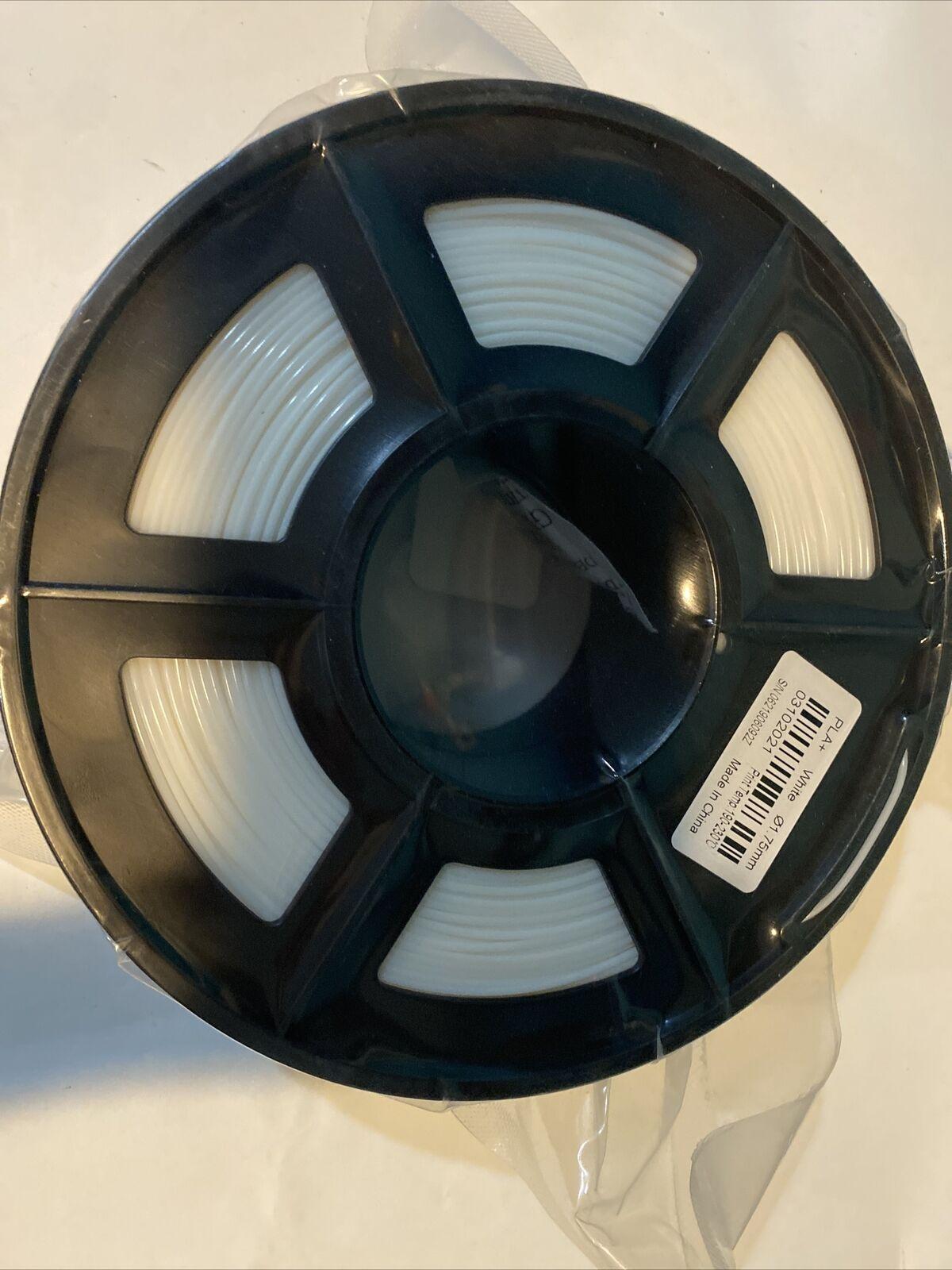 SUNLU TPU 3D Printer Filament 1.75mm 500G Black Rebound Flexible material