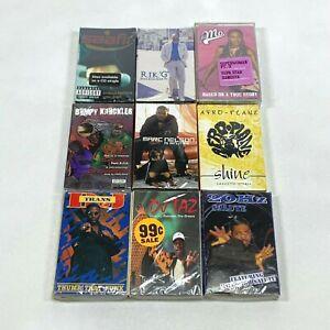 Lot of 9 Cassette Tapes 90s Rap Hip Hop Bumpy Knuckles Saafir DJ Taz Marc Nelson