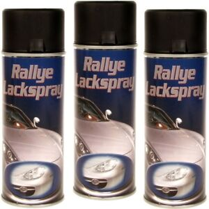3x Schwarz matt 400 ml Top Spraydose Rallye Lackspray Profi Sprühdose Autolack - Hainburg, Deutschland - 3x Schwarz matt 400 ml Top Spraydose Rallye Lackspray Profi Sprühdose Autolack - Hainburg, Deutschland