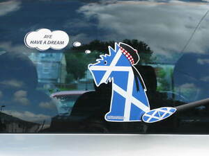 SCOTTISH-INDEPENDENCE-SCOTTIE-DOG-CAR-STICKER-COLLECTABLE-WAGGING-TAIL-WIPER