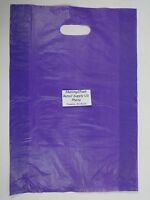500 Qty. 12 X 3 X 18 Purple High-density Plastic Merchandise Bag W / Handle