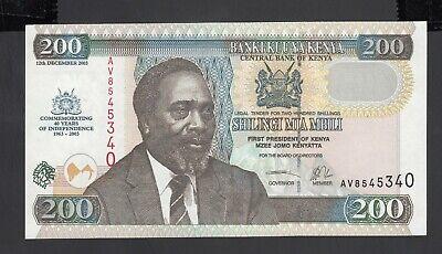 KENYA 200  SHILLINGS 2005  Prefix BD P 49a  Uncirculated Banknotes