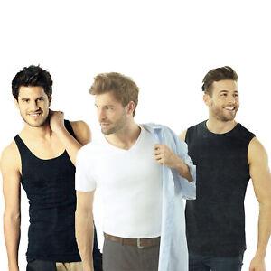 2er-Pack-Herren-Unterziehshirt-Muskelshirt-Achselhemd-Tank-Top-Shirt-Unterhemd