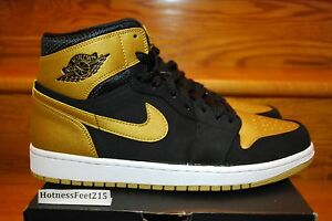 nike air jordan gold and black
