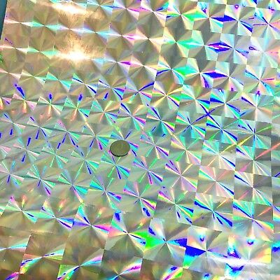 "Silver Holographic Craft /& Hobby Cutting Vinyl Film 24/"" X 24/"""