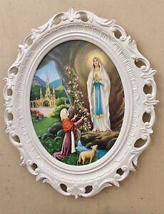 RELIGIOSA-IMMAGINE-CON-TELAIO-cristiana-Quadro-SANTA-MARIA-MADRE-DI-DIO-58x68