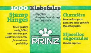 PRINZ-1000-READY-FOLDED-STAMP-HINGES-COLLECTORS-ACID-FREE-MOUNTS