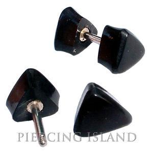 100% QualitäT 1 Paar ! Ohrringe Geschraubt Fake Flesh Tunnel Horn Bone Plug Piercing F060 Festsetzung Der Preise Nach ProduktqualitäT