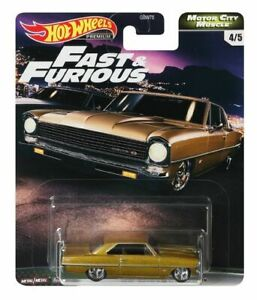 Hot Wheels Chevy Nova Gold Fast and Furious GBW75-956G 1/64