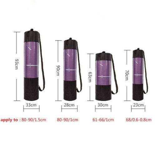 Yoga Mat Waterproof Backpack Yoga Bag Nylon Carrier Mesh Adjustable Strap XS