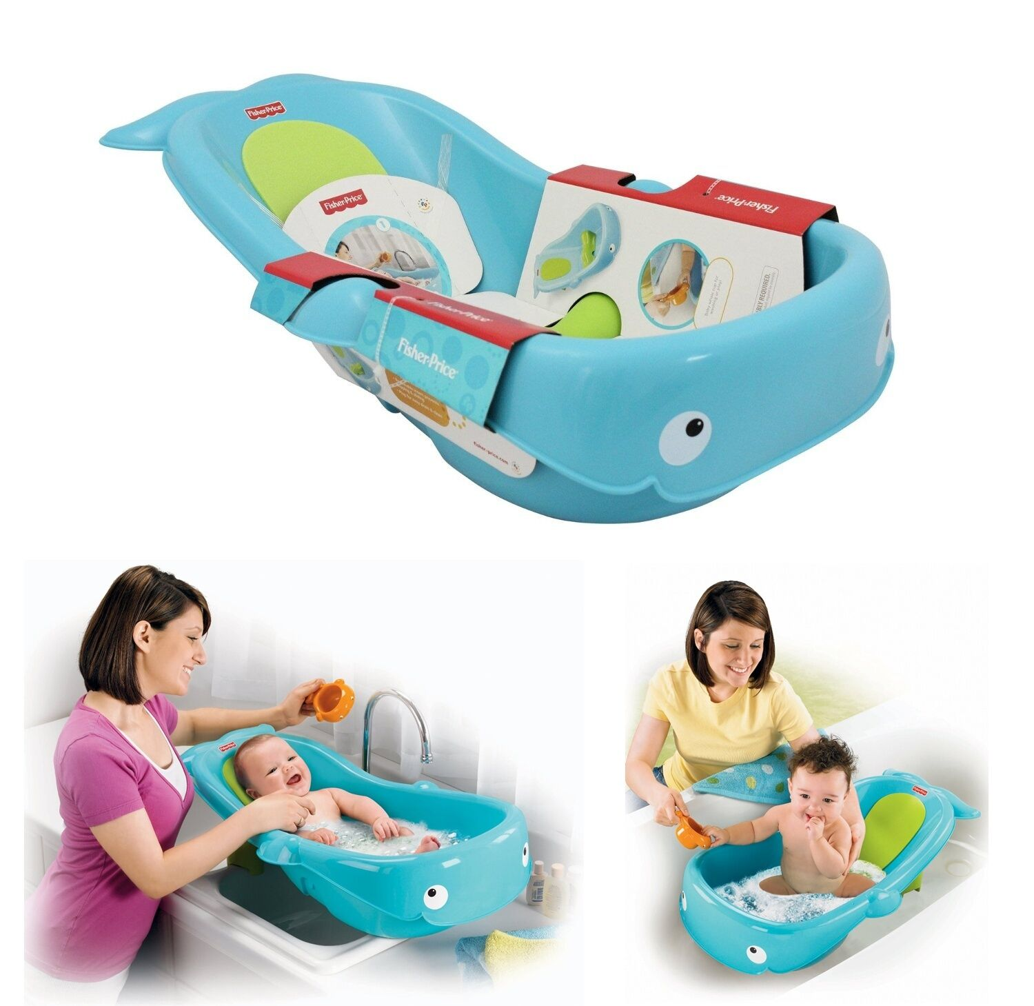 fisher price baby bath tub whale infant toddle newborn shower bathroom non slip ebay. Black Bedroom Furniture Sets. Home Design Ideas
