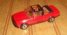 Matchbox 1985 Red BMW 323i Cabriolet Scale 1:58 Made in Macau