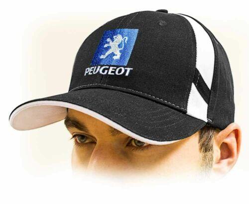 Adjustable size with embroidered logo! black PEUGEOT baseball Cap Unisex hat