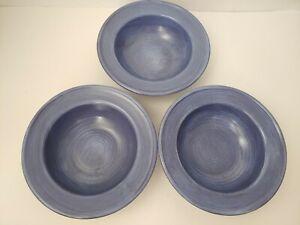 Pfaltzgraff-Stonewash-Blue-Soup-Cereal-Bowl-7-7-8-034-Rimmed-Set-of-3