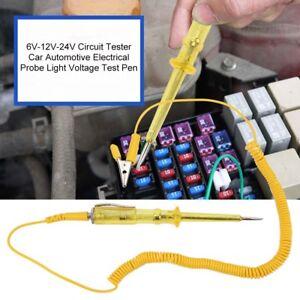 Details about 6V-24V Circuit Tester Car Automotive Electrical Probe Light  Voltage Test Kit Pen