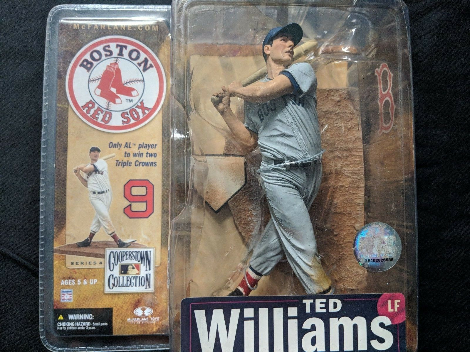 Ted Williams variant McFarlane figure Boston Red sox Cooperstown collection