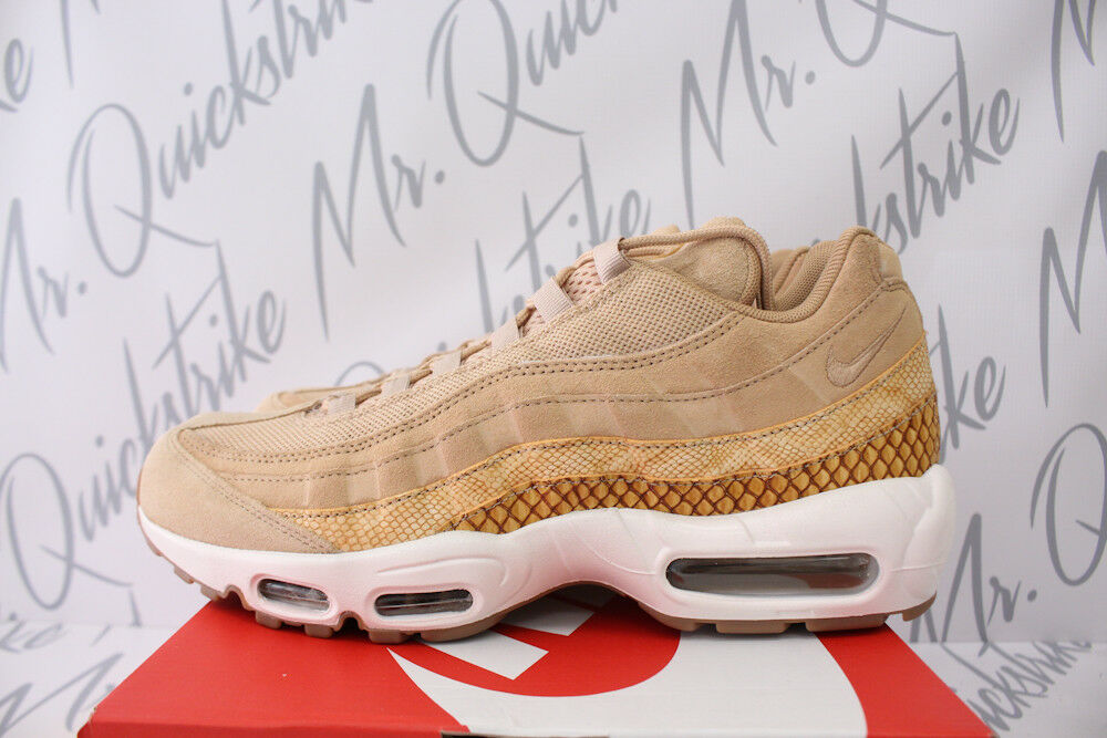 Nike air max 95 premio se sz 8 vachetta tan serpente elementale d'oro 924478 201