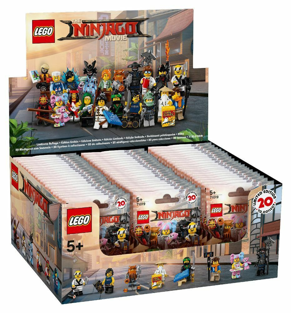 LEGO® NINJAGO® MOVIE™ 71019 Display (60 Tüten) Neu & versiegelt Minifiguren