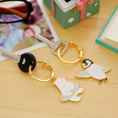 Cute Penguin And Bear Key Chain Keyring Car Bags/Phone Keychain Pendant Gift
