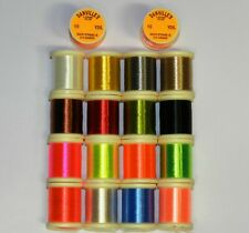 "UNI SINGLE STRAND FLOSS  /"" 20 SPOOL SET in tray /""  Fly Tying Crafts"