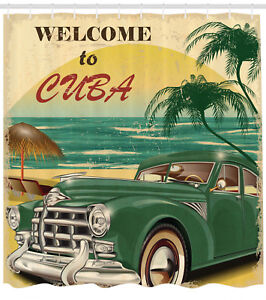 Image Is Loading Nostalgic Welcome To Cuba Classic Car Beach And