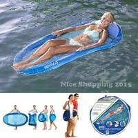 Floating Water Hammock Lounge Lake Pool Compact Fold Flat Portable Comfort Relax
