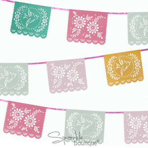 FLORAL-FIESTA-MEXICANA-BUNTING-Summer-Garden-Party-BBQ-Luau-Decoration-Banner