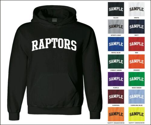 Raptors College Letter Team Name Jersey Hooded Sweatshirt