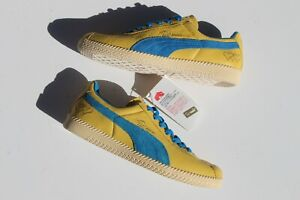 RARE-Puma-Pele-Brasil-LX-Trainers-2005-Release-US8-Yellow-Blue-Limited-Edition