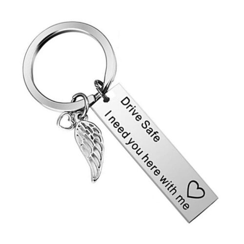 Key Chains Drive Safe I Need You Here With Me Keyring Couples Boyfriends Gift