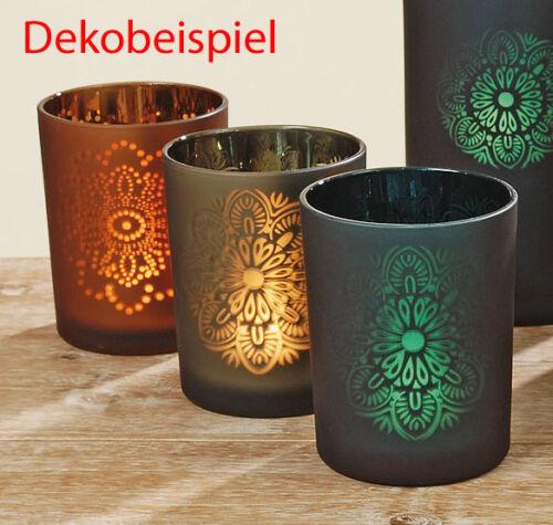 Teelichthalter Leuchter Windlicht Marengo Glas grün Ø 9,5 cm