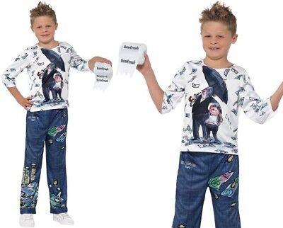 Kids BNWT Dress Up Costume Billionaire Boy David Walliams  Book Day BR