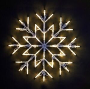 NUOVI-LED-DI-NATALE-Snow-Flake-White-finestra-luci