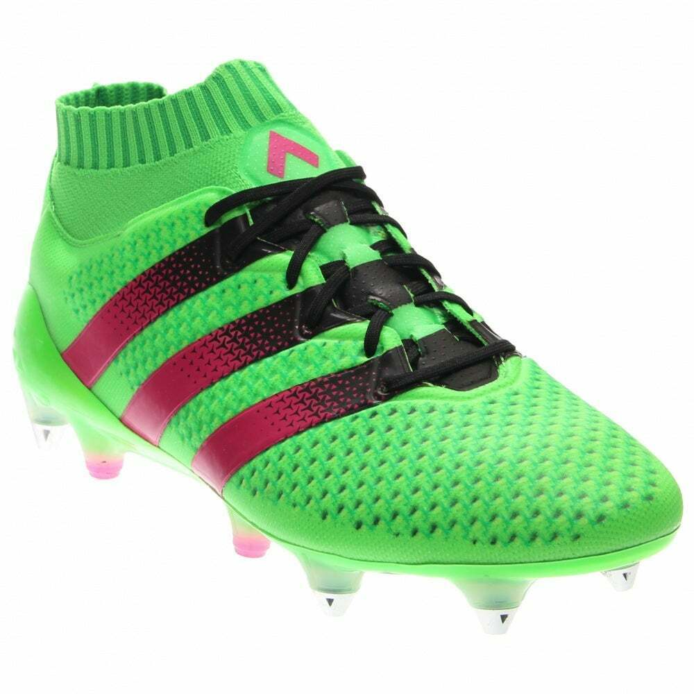 Adidas Ace 16.1 Primeknit SG Soccer Cleats - Green - Mens