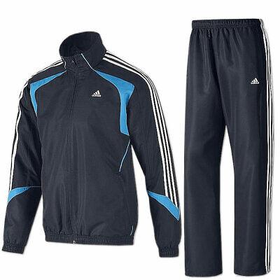 adidas Trainingsanzug TS Basic 3 Streifen Suit dark navy Jogginganzug Sportanzug   eBay