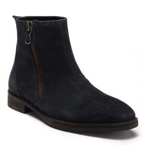 5818c991e3d Details about John Varvatos Star USA Men s Star M Zip Boot Distressed Suede  Mineral Black