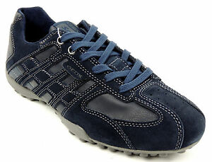 GEOX-Herren-Sneaker-SNAKE-navy-Wildlederleder-Leder-atmungsaktive-Sohle