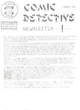 COMIC DETECTIVE RESEARCH SOCIETY NEWSLETTER #1 vintage 2sided 1971 fanzine flyer