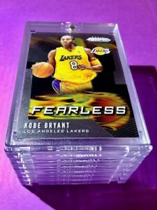 Kobe-Bryant-PANINI-PRIZM-HOT-FEARLESS-INSERT-LAKERS-CARD-INVESTMENT-Mint