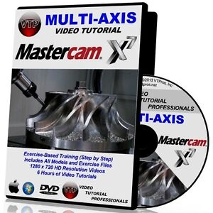 Details about MASTERCAM X6-X7 MULTI-AXIS 4/5 AXIS Video Tutorial HD COURSES  TRAINING 1 2 3 4 5