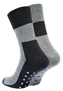 2-4-oder-6-Paar-Herren-ABS-Socken-Vollpluesch-Anti-Rutsch-Socken-Stoppersocken