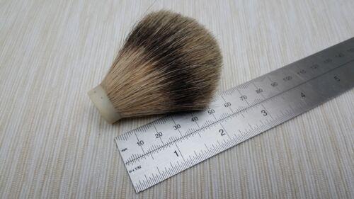 Trabajo con torno 19mm puro pelo de tejón brocha de afeitar